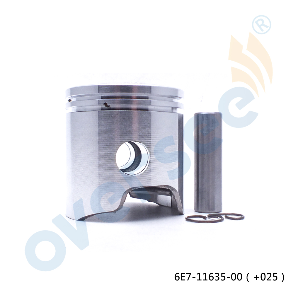6E7-11635-00-00 Piston Set 56mm +0.25mm Case For Yamaha 9.9HP 15HP Outboard engine Boat Motor Brand new aftermarket part