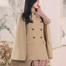 Темперамент двубортный модный плащ Блейзер для женщин стоячий воротник пальто офисные женские повседневные Пиджаки