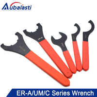 Aubalasti ER Collet Wrench ER32UM ER25UM ER40UM Collet Nut Spanner use for Collet Chuck Holder CNC Milling Tool Lathe Tools