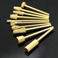 Ногтей маникюр DIY промышленного гель-лак электрическая золотой файл сверло инструменты бафики для полировки ногтей пилки для ногтей пилка для ногтей пилочка для ногтей металлическая пилки для наращивания ногтей