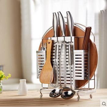 Hot Sale High Grade Stainless Steel Kitchen Storage Drain Water Type Tableware Set Multifunction Knife Holder Free Shipping