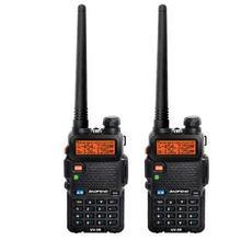 2pcs 2016 New BAOFENG UV 5R  Dual Band Two-way Radio Free Earpiece Baofeng UV-5R walkie talkie VHF&UHF  UV5R portable radio