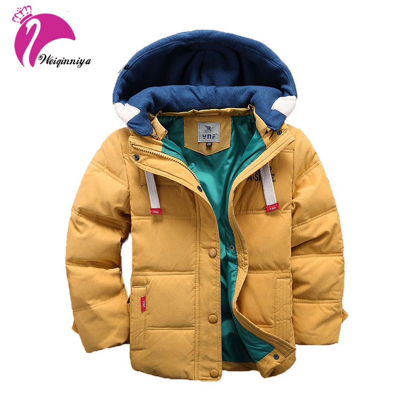 Winter Jacket For Boy Kids Outerwear Baby Boys Casual Warm Hooded Jacket For Boys Kid Solid Outware 2017 Children Down & Parkas children winter coats jacket baby boys warm outerwear thickening outdoors kids snow proof coat parkas cotton padded clothes
