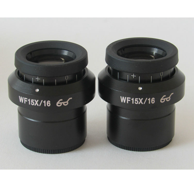 1PC High Eyepoint Eyepiece Wide View WF15X/16 Wide Angle lens Diopter Adjustment with Mounting size 30mm for Stereo Microscope accessories stereomicroscope special wide angle 10x eyepiece with 20 times the measured differential reticle
