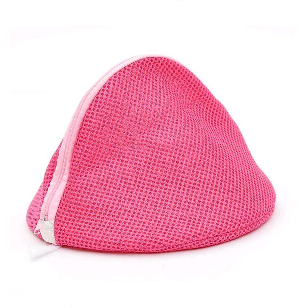 PHFU Wholesale Women Bra Laundry Lingerie Washing Hosiery Saver Protect Aid Mesh Bag Cube -Pink