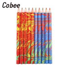 Sketching Rainbow Pencil Colorful Wooden Drawing Smooth Writing Tools Novelty 10pcs