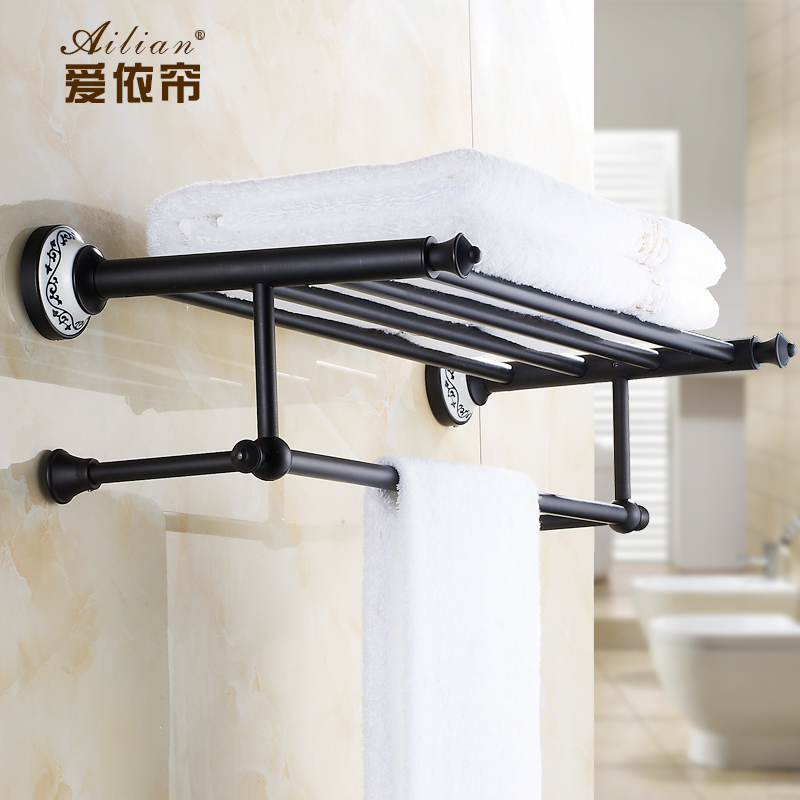 European Style Luxury Retro Black Amp White Porcelain Ceramic Bathroom Towel Rack Copper Towel Rack