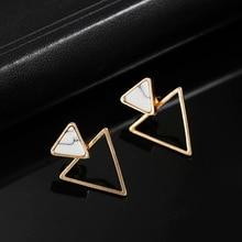 Новые серьги, модные простые серьги-гвоздики, индивидуальный тренд, треугольные серьги, опт, ювелирные изделия, женские серьги