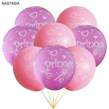 NASTASIA/10 шт./партия, розовый латексный воздушный шар принцессы с принтом, 12 дюймов, 2,8 г, украшения для дня рождения, девушка с воздушными шарами, пол