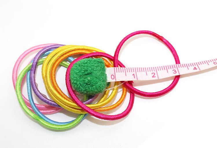 10ชิ้นเด็กเด็กวงผมที่ยืดหยุ่นน่ารักH AirbandยางเชือกE Lasticsอุปกรณ์ผมสำหรับผมผูกเครื่องประดับHeadbands