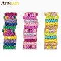 Лидер продаж, тонкое золотистое кольцо с радужной багеткой, микро-ПАВЕ, разноцветное женское модное кольцо с разноцветным кубическим цирко...