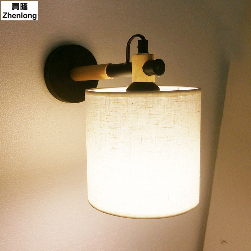 Modern Brief Bedside Solid Wood Wall Lamp Oak Wood Wall Lights For Bedroom Living Room Hotel Wall Led modern lamp trophy wall lamp wall lamp bed lighting bedside wall lamp