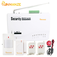 New Units Wireless Wired SIM GSM Home Burglar Security Android IOS Alarm System English Russian Spansih