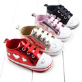 1PCS Free Shipping Prints Love Baby Toddler Shoes Non-slip Baby Shoes Female Girls Children Sport Casual Shoes Better Quality G2