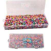 Randomly Hama Beads 13000Pcs Set 5MM & 3MM Children Crafts Perler Beads Jigsaw Puzzle For Kids GREAT Fun 1Pc