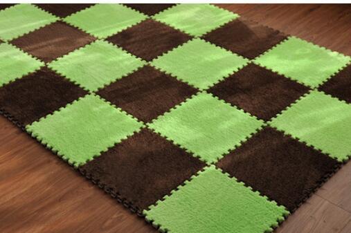 Jigsaw floor mat, baby climbing foam bedroom plush surface clause. free shipping
