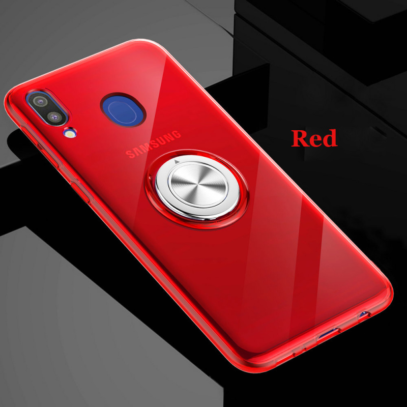30pcs lot For Samunsg Galaxy A9 A7 2018 A750 Shockproof Transparent Magnetic Car Holder Back Case