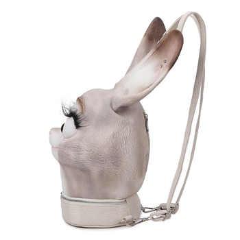 Cute 3D Rabbit Backpack Fashion Bunny Women Bag Pack Luxury Designer School Bags Travel Backpack Gift For Girl