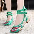 2016 новый старый Пекин обувь вышитые обувь женская обувь подлинный этнический стиль плоские туфли высокое качество zapatos mujer a102