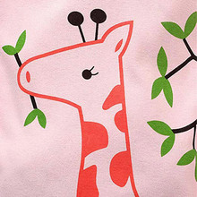 Long Sleeve Giraffe Printed Pajamas for Girls