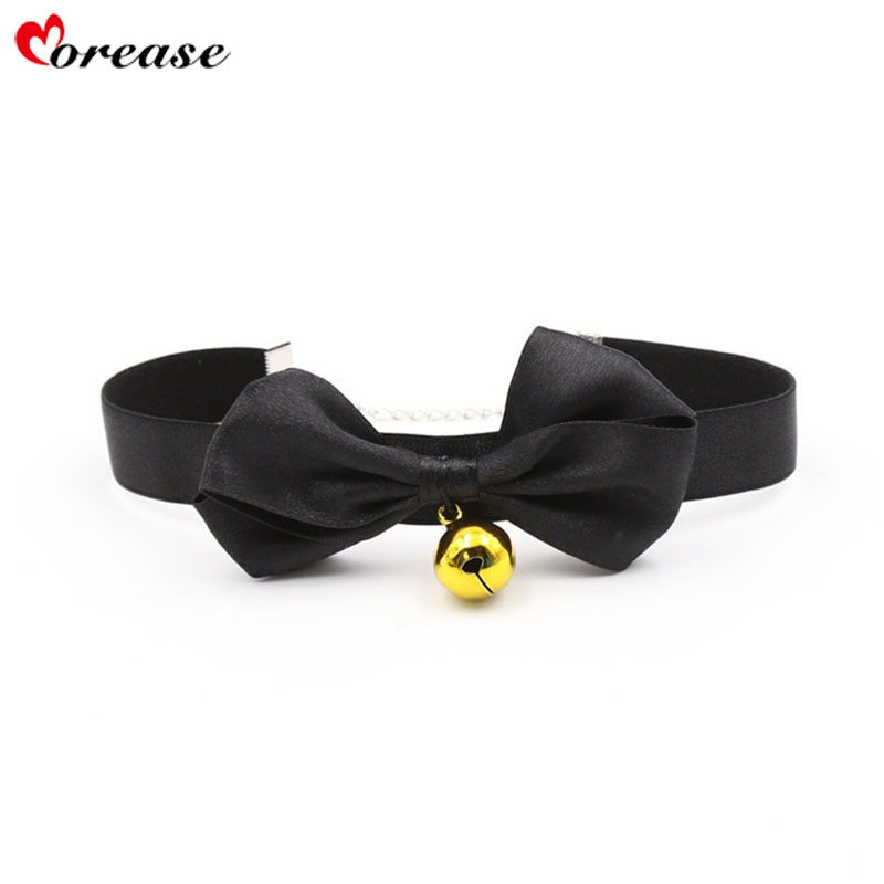 Buy Morease Hot Sexy Collar Necklace Bondage Nylon Neck Ring Bell Slave Adult Game Men Women Cosplay Flirting Sex Toy Erotic Chain