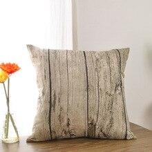 Creative Wood descanso almohada almuerzo de oficina sala de estar sofá cojín cojín de tela de algodón personalizada fundas de cojines