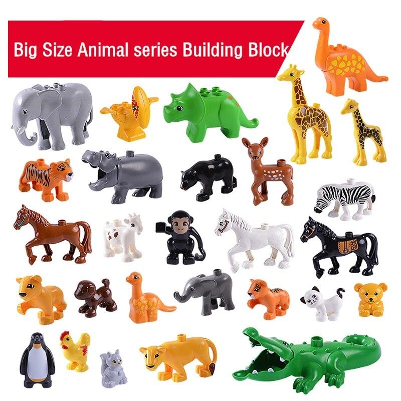 Animal Series Model Figures Big Building Blocks Animals Educational Toys for Kids Children Gift Compatible Duploed Kids Gifts 5