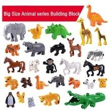 Animal Series Model Figures Big Building Blocks Animals Educational Toys for Kids Children Gift Compatible Duploed Kids Gifts
