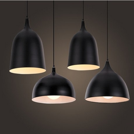 Semplice Stile Loft Ferro Industrial Droplight Lampada a Sospensione ...