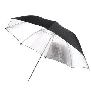 AAAE Топ 102 см/40 дюймов Студия фото стробоскоп вспышка светильник отражатель черный серебристый мягкий зонтик