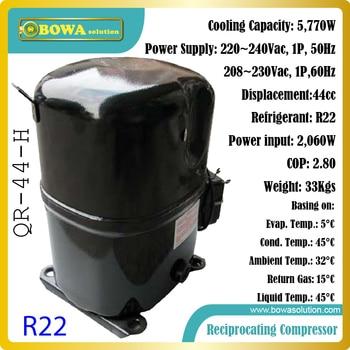 6KW capacité de refroidissement R22 compresseurs alternatifs économes en énergie et fiables pour réfrigérateurs et congélateurs domestiques