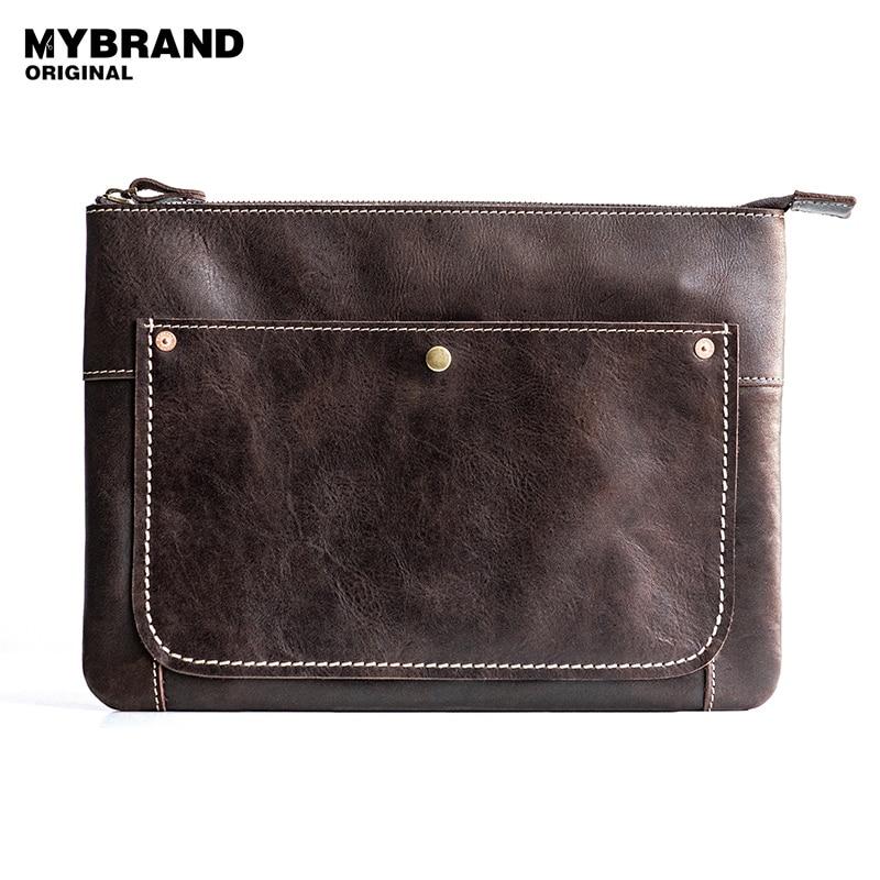 MYBRANDORIGINAL handbags genuine leather handbag men large capacity bag for man envelope bag messenger bags fashion