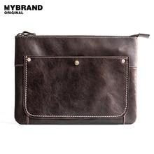 Mybrandoriginal сумки натуральная кожа Сумочка Мужчины большая емкость сумка для человека Конверт Сумка сумки модные сумки Q49