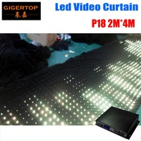 Gigertop P18 2M*4M Fireproof Creative Flexible LED Video Curtain DJ Stage Professional Pattern Effect LED RGB Cloth Pitch 18cm