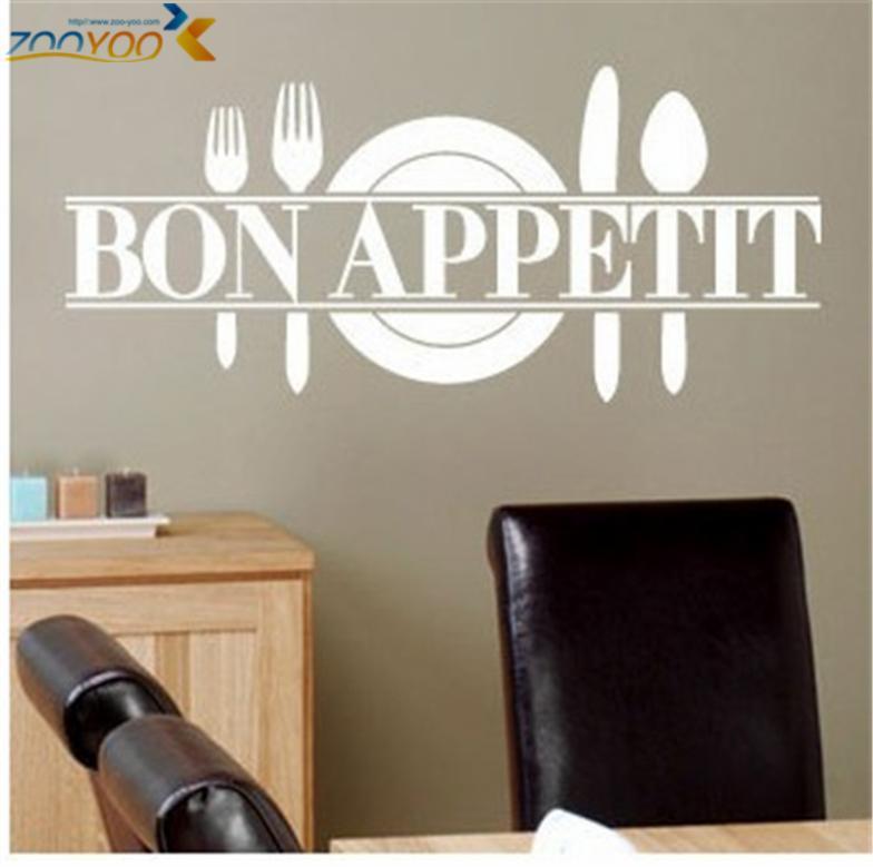 Bon Appetit comida pegatinas De pared cocina comedor decoración Diy ...