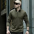 New TACTICAL Autumn Outdoor male long sleeve warm Fleece Sweater Shirt Mens Elastic Breathable Thermal Quick drying Pullovers