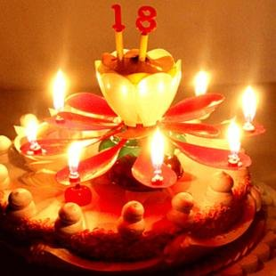 Music Lotus Flower Candles Birthday Candle Flowers Crafts