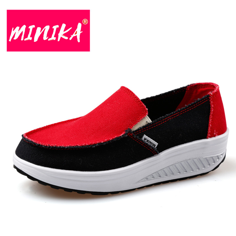 MINIKA Designer Superstar Flat Loafer Shoes New Arrival Women Patchwork Shoes Breathable Women Slimming Swing Casual Shoes