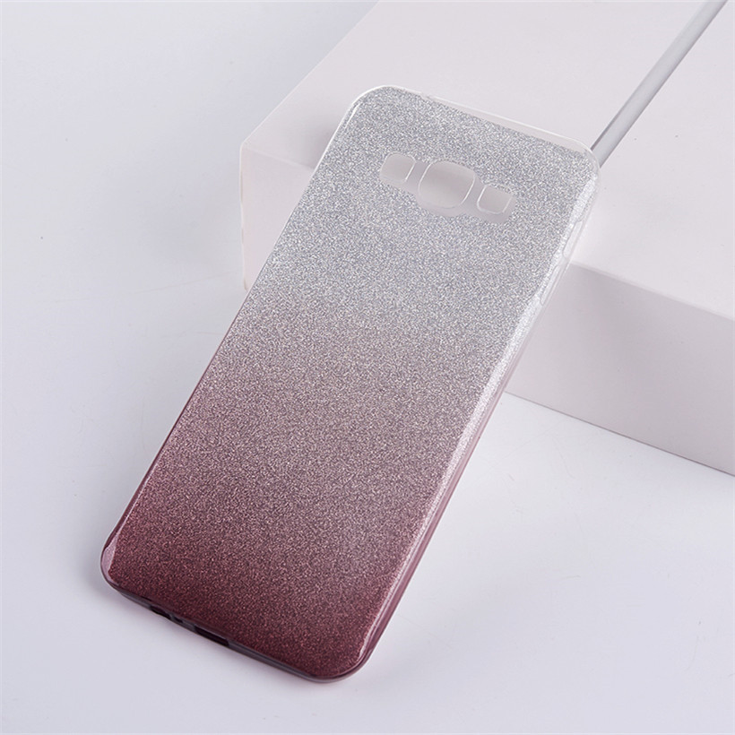 HEMASOLY <font><b>Case</b></font> For <font><b>OnePlus</b></font> 6 5T 5 <font><b>3</b></font> Soft TPU For <font><b>OnePlus</b></font> 6 Silicone <font><b>Case</b></font> Luxury <font><b>Glitter</b></font> Gradient Protective Cover image