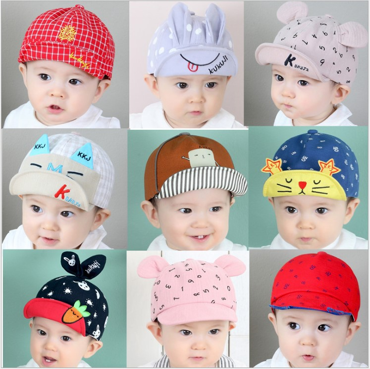 2018 New Cotton Spring Summer Baby Hat Child Warm Cat Cap Baby Cap For Boys/Girls Baby Beanies Kids Hat Adjustable size
