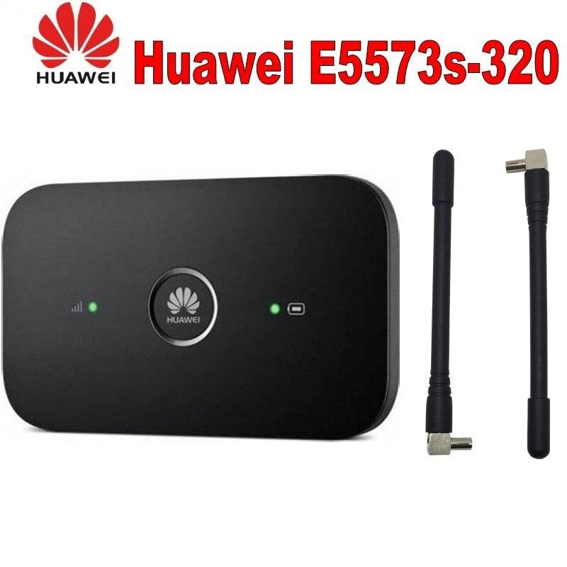 Débloqué Huawei e5573 E5573bs-320 E5573S-320 donner 2 antenne 4g lte wifi routeur 3G 4G WiFi Hotspot sans fil routeur pk e5377 e5372