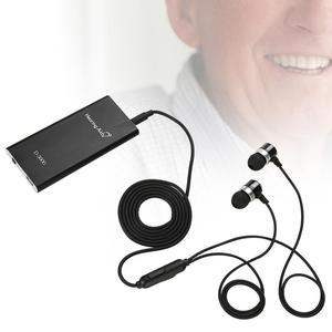 Image 2 - السمع جيب مكبر صوت قابل للتعديل حجم الأذن أدوات العناية MP3 ل الصم المسنين سماعات توصيل العظام