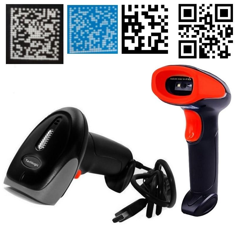 USB Scanner de Código de Barras Com Fio 2D 2D Imagem do Scanner Scanner de código de Barras QR Código De Matriz de Dados PDF417 Arma Bar