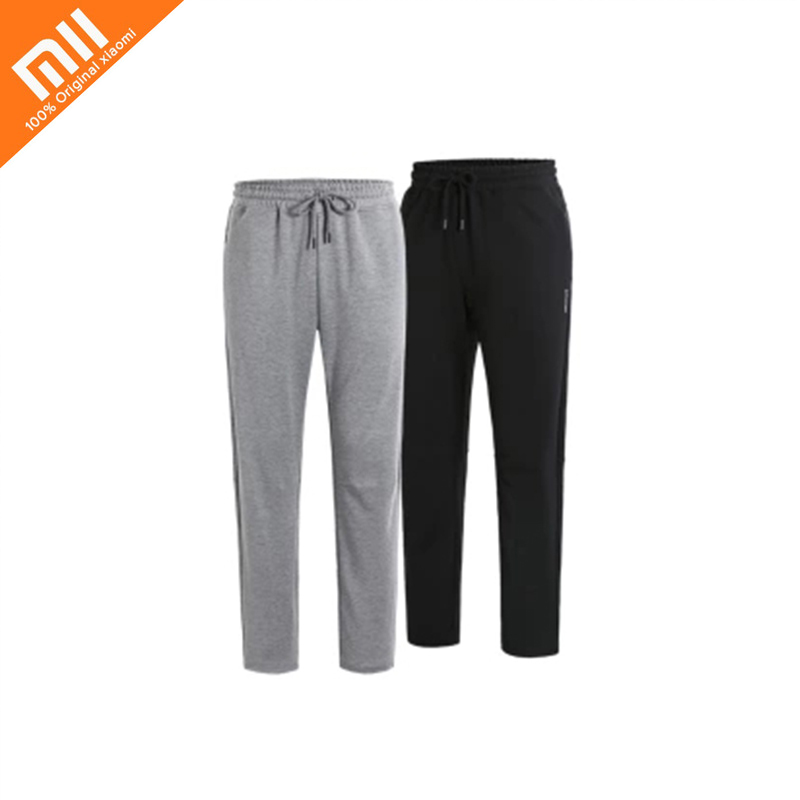 New Xiaomi ULEEMARK Cotton Men Sportswear Pants Loose Sweatpants Trousers Jogger Pants Pants Casual Elastic Mens Fitness Workout drawstring contrast stripe jogger pants