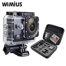 Wimius 4K 1080P 60fps Action Camera Full HD 2.0″ LCD Mini Wifi Sports Cam Go Waterproof 40m Pro+Protection Travel Storage DV Bag