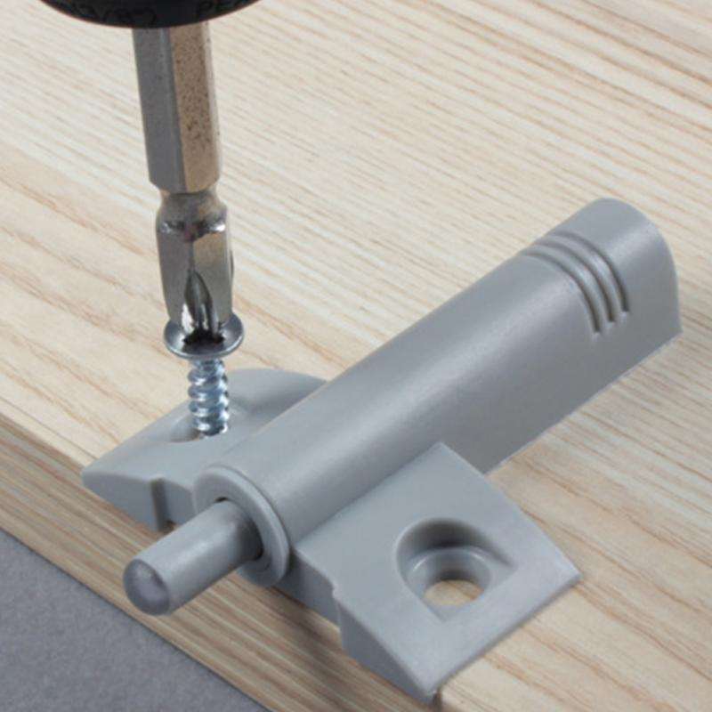 5pcs New Push to open latch kitchen cabinet door buffer soft closer damper Catch