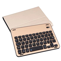 For Apple IPad Mini4 Aluminum Alloy Removable Wireless Bluetooth Keyboard PU Leather Case Cover For Apple