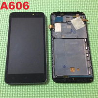 LTPro Best Working Sensor LCD Display Touch Screen Digitizer Assembly With Frame For Lenovo A606 Cell
