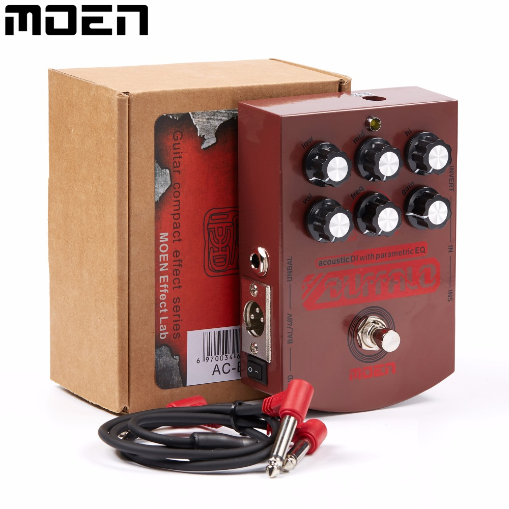 Moen Buffalo Acoustic Equalizer Effect Pedal with DI Effects for Acoustic Guitar AC-BA buffalo bill cody
