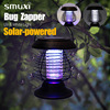Solar Powered UV LED Pest Bug Zapper Light Anti Insect Bug Repellent Mosquito Killer Garden Outdoor Yard Night Lamp 2 in 1 Mode